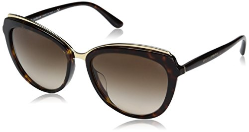 Dolce-Gabbana-Womens-Acetate-Woman-Cateye-Sunglasses-Havana-570-mm