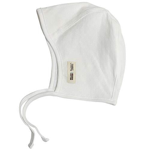 - Sweet Layette Baby Bonnet Cap - Baby Pilot Hat - 100% Organic Cotton (Ivory)