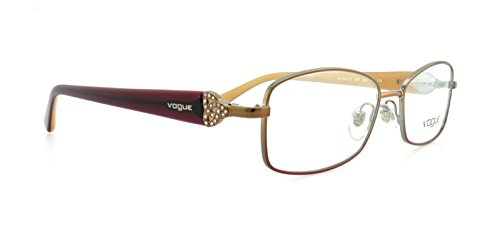 Vogue VO3845B Eyeglass Frames 896-5216 - Brown / Pink