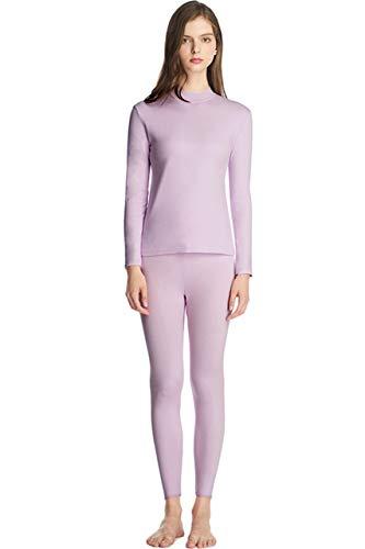 SANQIANG Women's Half High Neck Thermal Underwear Set Tagless Cotton Long Johns Sets Top & Bottom Base Layer(US L=Tag (Dog Long John Pajamas)
