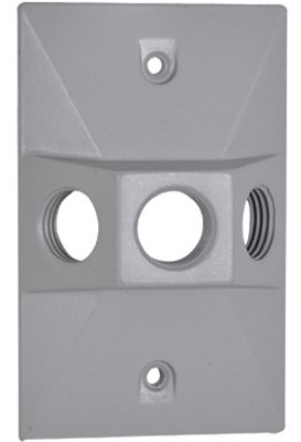 Hubbell Electrical Products RE-3X Gray Weatherproof Rectangular Lampholder Cover - Quantity 80