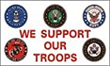 NEOPlex We Support Our Troops 5 Logos Traditional Flag Review