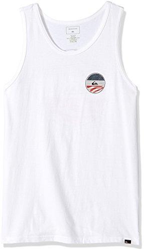 Quiksilver Men's Block Party Tank T-Shirt, White, X-Large