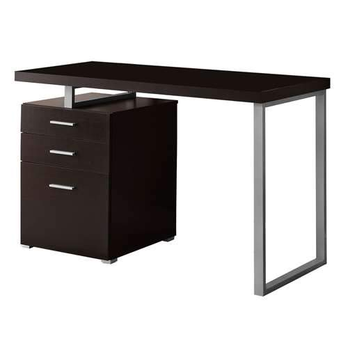 (Monarch Specialties Hollow-Core Left or Right Facing Desk, 48-Inch Length, Cappuccino)