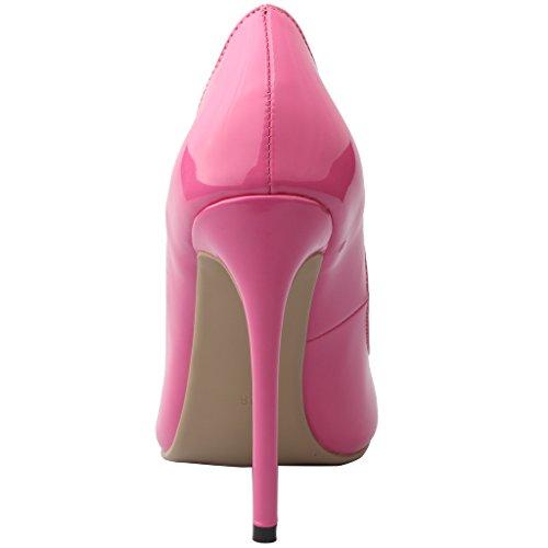 12CM Aiguille Glisser Vaneel Escarpins Femme sur Rose Chaussures Vaflash E7q7wtB
