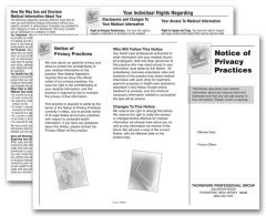 Amazon Egp Notice Of Privacy Practices Hipaa Trifold Brochure