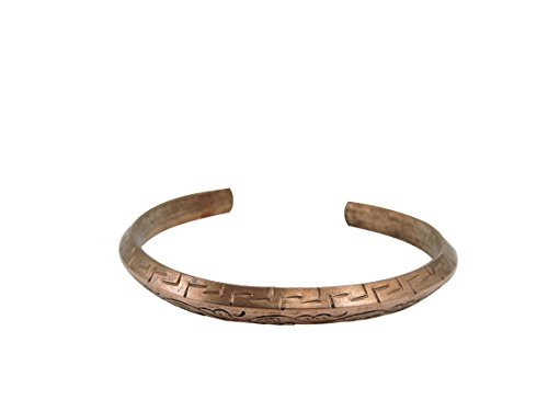 Tibetan Hand Crafted Copper Medicine Bracelet From Nepal (Style 8)