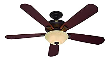 "Hunter H21711 Grant Park 60"" New Bronze Ceiling Fan with Light"