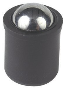 15/64'' x 0.278'' Force = 1.35 lb - 2.70 lb Plastic No Flange Press Fit Ball Plunger, Pack of 10 by TE-CO TOOLING COMPONENTS