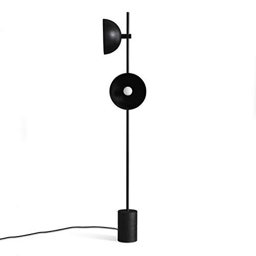 (Simple Modern Creative Floor Lamp Black Wrought Iron Nordic Art LED Vertical Light)