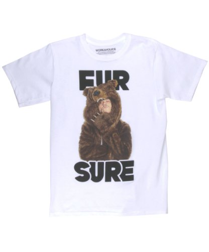 Authentic Workaholics Fur sure Tee Shirt Men-Medium]()