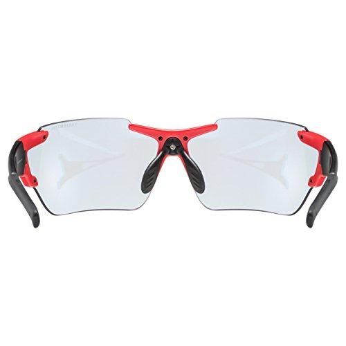 SH + RG 4701, lunettes Mixte adulte M noir/rouge