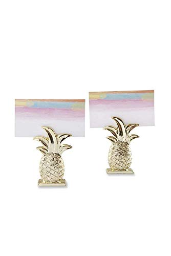 (Kate Aspen 84 Gold Resin Pineapple Place Card Holder Wedding Thank-You Gifts Baby Bridal Shower Table Décor Decorations Party Souvenir Favors)