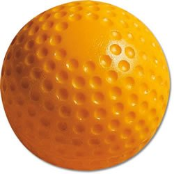 MacGregor Dimpled Baseballs, Yellow, 9-inch (One Dozen)