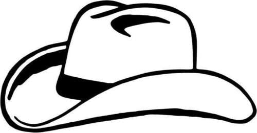 "storevn_012019 (Size 5"" - (Color White)_Cowboy Hat_Vinyl Decal Sticker Car Truck Vehicle Bumper Window Wall Decor Helmet Motorcycle, iPhone, Ipad, Windows."