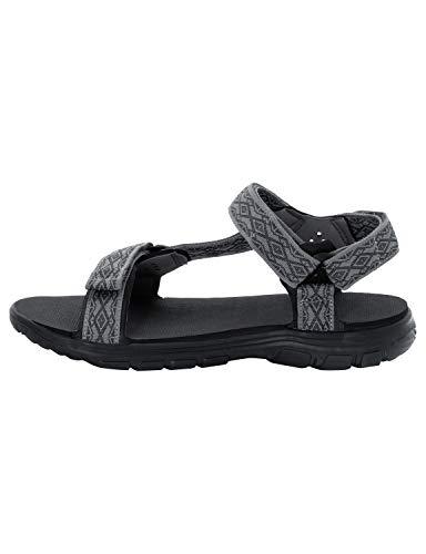 2 Jack Herren 6011 Grau Sandal tarmac Seas Sandalen Grey M Wolfskin Sport Seven tgxwgUqrp