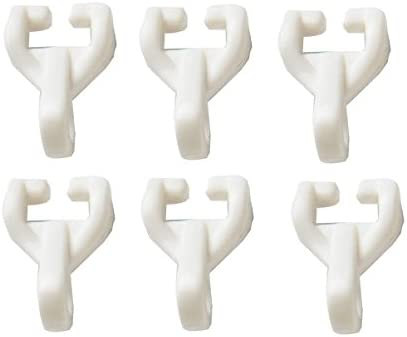 Merriway BH03627 Curtain Track Rail Gliders Hooks to fit Swish Twin Glide Nylo Glide Track - Pack of 50
