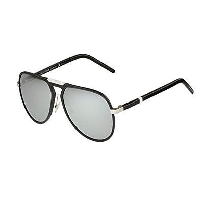 Christian Dior Homme Sunglasses Aluminum 13.2 10GSS Matte Black Silver Mirrored