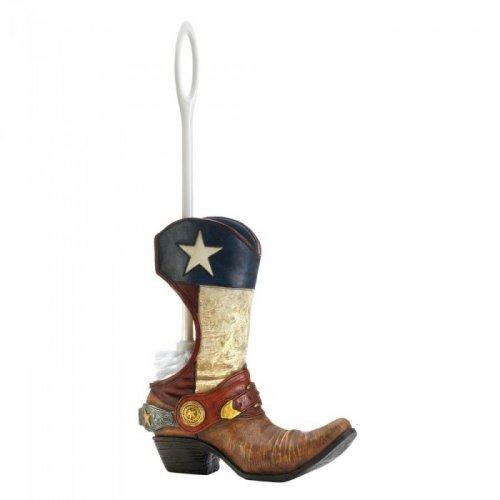 (Cowboy Boot Toilet Brush Holder)