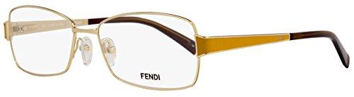 Fendi Rectangular Eyeglasses F1041 714 Size: 54mm Shiny Gold/Ochre 1041
