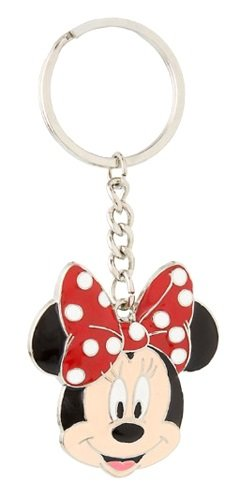 Disney Parks Keychain - Minnie Face Sculpted