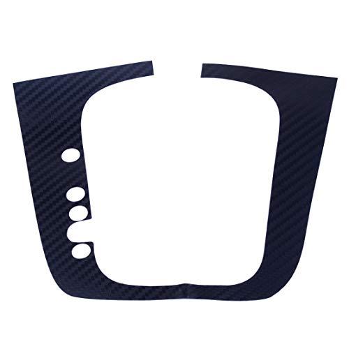 beler Carbon Fiber DSG Gear Shift Knob Panel Sticker Fit For VW Volkswagen Golf MK6 GTI R20 LHD