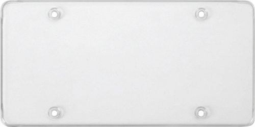 Cruiser Accessories 76100 Tuf Flat Shield License Plate Shield/Cover, ()
