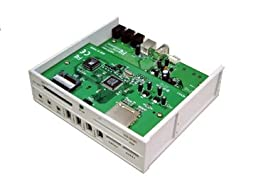 Multifunction Hi-Speed USB 2.0 Front Panel Card Reader with USB 2.0 Hub / 1394a Repeater / Audio Ports / SATA Ports (5.25\
