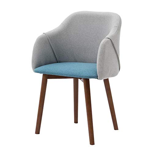 Dining Chairs CJC Armrests Beechwood Kitchen Counter Office Living Room Lounge Tub Chair (Color : B2)