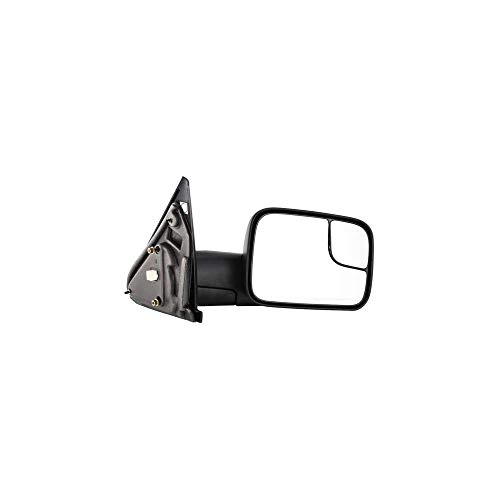 - Kool Vue DG44ER Dodge Pickup 1500/2500/3500 Passenger Side Towing Mirror, Power, Heated, Without Puddle Light or Signal, Textured Black