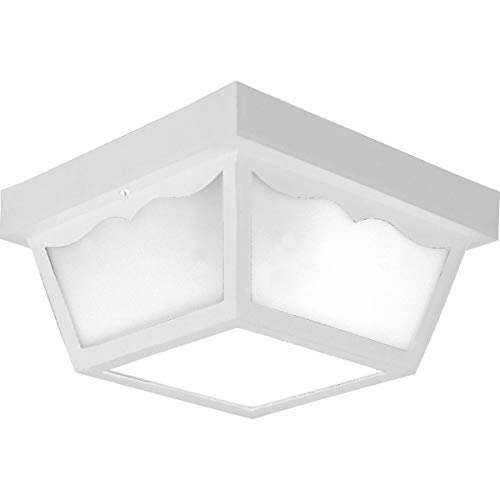 - Progress Lighting P5745-30 Non-Metallic Ceiling Light with 1-Piece White Acrylic Diffuser, White