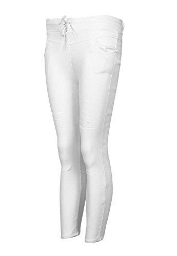 Mince Slim Cigare Pantalons Crayon Haute Femmes Skinny Minetom Taille Leggings Blanc Stretch Dchirs Sportif qxzZaEHw6
