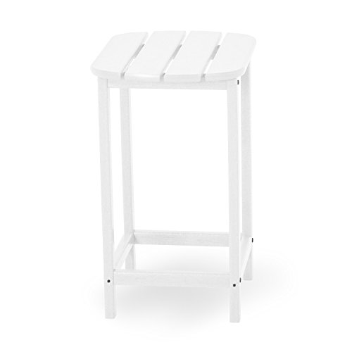 POLYWOOD SBT26WH South Beach 26'' Counter Side Table, White by POLYWOOD