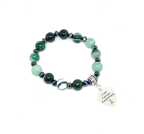 Liver Cancer Awareness Bracelet - Pick your own charm
