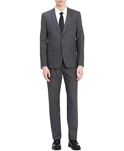 Calvin Klein Men's Slim Fit Button Notch End Bi-Stretch Infinite Jacket, Iron gate Medium R ()