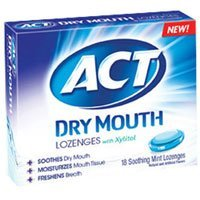 ACT Dry Mouth Lozenges Mint, Mint 18 Each (Pack of (Organic 18 Lozenges)