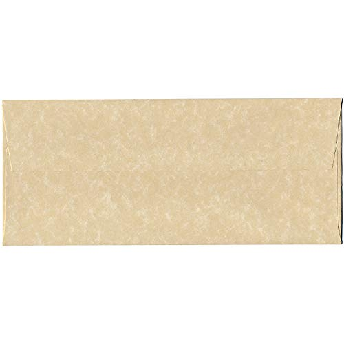 Tan Envelopes - JAM PAPER #10 Business Parchment Envelopes - 4 1/8 x 9 1/2 - Brown Recycled - 50/Pack