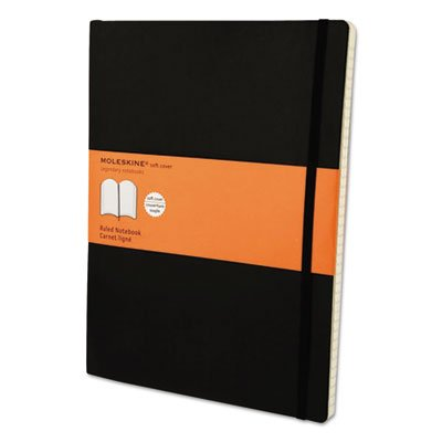 Classic Softcover Notebook, Ruled, 10 x 7 1/2, Black Cover (8 Pack) by Moleskine (Image #1)