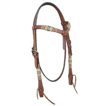 Crossover Headstall with Rawhide Accent