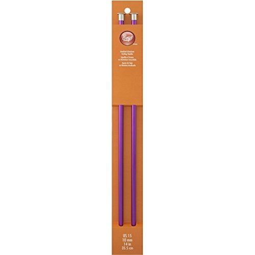Boye Single Point Aluminum Knitting Needles 14