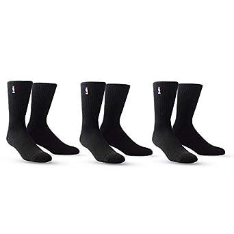 info for c47ec 914d8 PKWY NBA Logoman Socks (3 Pack) White   Black Available - Size Large Fits