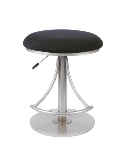 Surprising Hillsdale Furniture 4209 824H Hillsdale Venus Backless Swivel Bar Silver Black Adjustable Stool Beatyapartments Chair Design Images Beatyapartmentscom