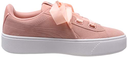 Femme peach Puma Stacked S Bud Rose Basses Vikky Ribbon Sneakers rSqU4wYS8