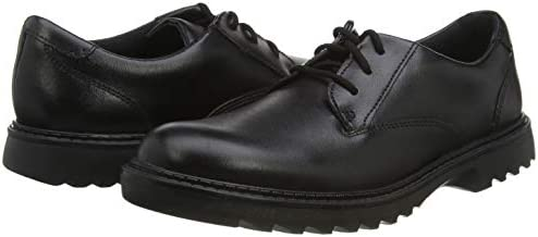 Boys Clarks Rounded Toe Formal Lace Up Leather School Shoes Asher Soar