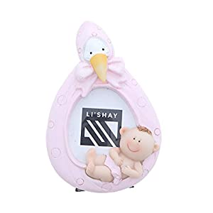 Li'Shay Mini Pink Stork Baby Photo Frame