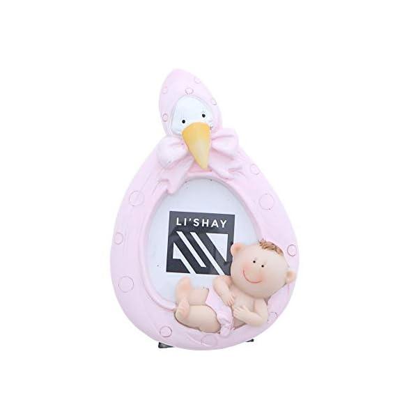 Li'Shay Mini Pink Stork Baby Photo Frame