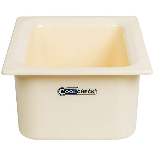 TableTop King CM1101C1402 Coldmaster CoolCheck 1/2 Size White Cold Food Pan - 6