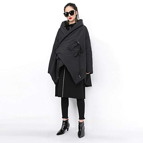 Cuero Damas Capa Abrigo Irregular Chaqueta Mujer Invierno Acolchado Cárdigan Para Algodón De Chenyongping qwp7C6Ew