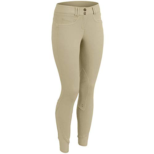 Equistar Child's Pull On Cotton Knee Patch Riding Breeches, 6