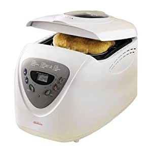 Sunbeam Bread Maker in White Features Programmable Control Panel with Digital LED Display, Great Addition for your Kitchen